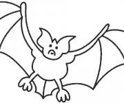Coloriage et dessins gratuit Chauve-souris facile à imprimer