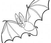 Coloriage et dessins gratuit Chauve-souris fait un tour à imprimer