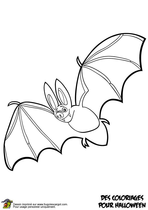 Coloriage et dessins gratuits Chauve-souris fait un tour à imprimer