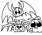 Coloriage Chauve-souris les monstres dessin animé