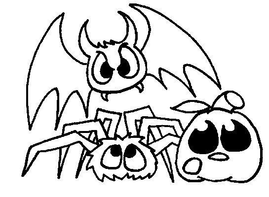 Coloriage et dessins gratuits Chauve-souris les monstres dessin animé à imprimer