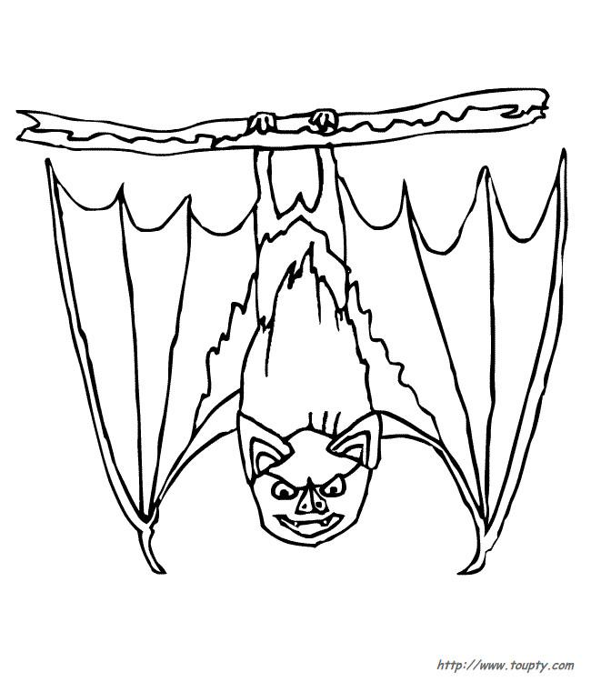 Coloriage et dessins gratuits Chauve-souris méchant à imprimer