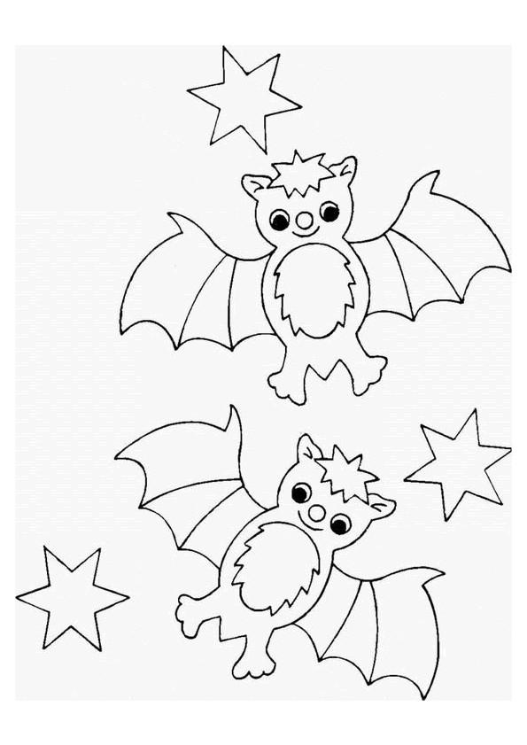 Coloriage et dessins gratuits Chauve-souris mignon à imprimer