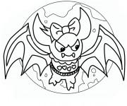 Coloriage Chauve-souris monstre