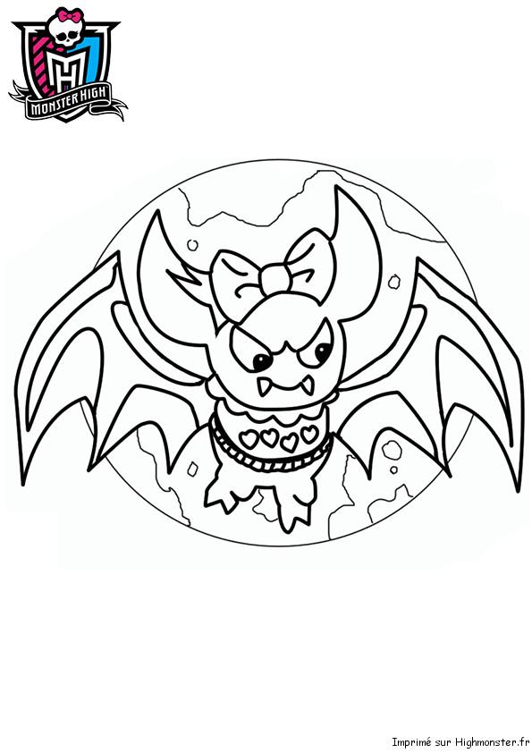 Coloriage et dessins gratuits Chauve-souris monstre à imprimer
