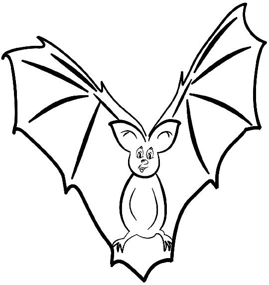 Coloriage et dessins gratuits Chauve-souris noir et blanc à imprimer