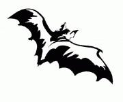 Coloriage et dessins gratuit Chauve-souris noire à imprimer