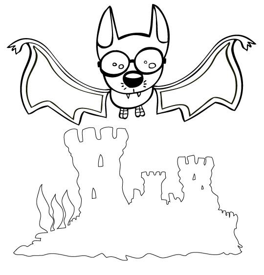 Coloriage et dessins gratuits Chauve-souris portant des lunettes à imprimer