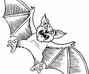 Coloriage et dessins gratuit Chauve-souris qui fait peur à imprimer