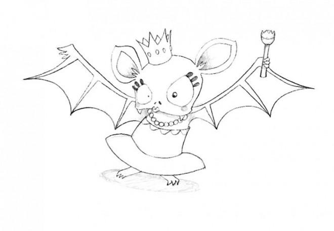 Coloriage et dessins gratuits Chauve-souris reine à imprimer