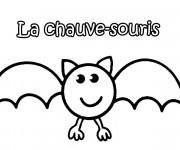Coloriage et dessins gratuit Chauve-souris simple à imprimer