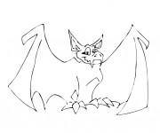 Coloriage et dessins gratuit Chauve-souris vampire à imprimer