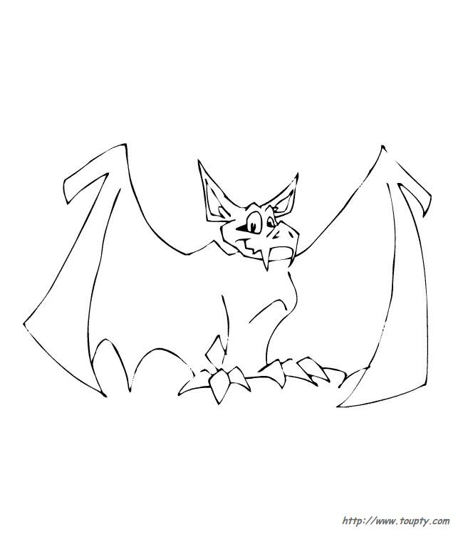 Coloriage et dessins gratuits Chauve-souris vampire à imprimer