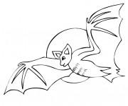 Coloriage Chauve-souris vole tout seul