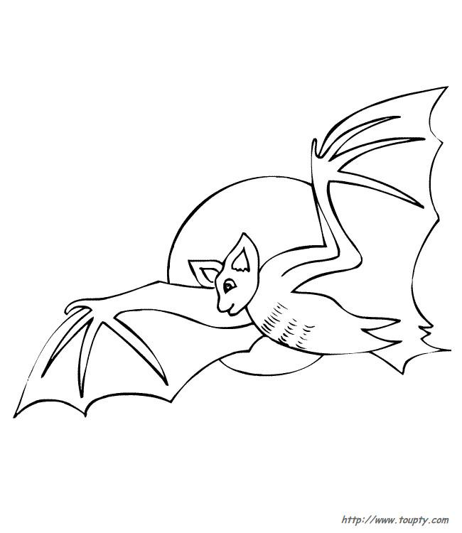 Coloriage et dessins gratuits Chauve-souris vole tout seul à imprimer