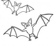 Coloriage et dessins gratuit Chauves-souris dans le ciel à imprimer