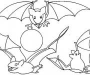 Coloriage Chauves-souris en ligne