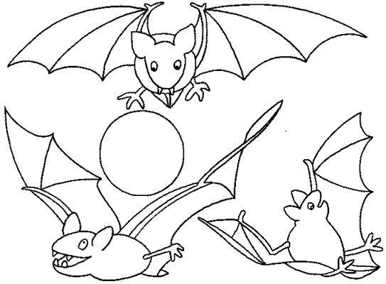 Coloriage et dessins gratuits Chauves-souris en ligne à imprimer