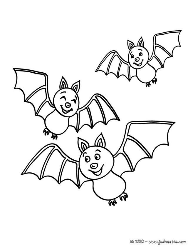 Coloriage et dessins gratuits Chauves-souris en souriant à imprimer