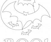 Coloriage et dessins gratuit Chauves-souris faisant peur à imprimer