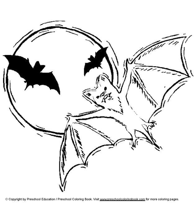 Coloriage et dessins gratuits Chauves-souris sortent la nuit à imprimer