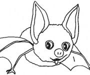 Coloriage et dessins gratuit Petit chauve-souris à imprimer