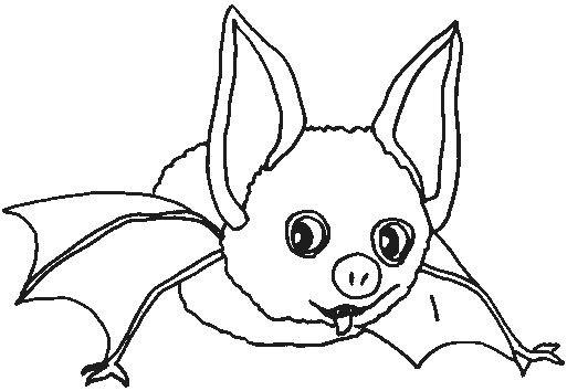 Coloriage et dessins gratuits Petit chauve-souris à imprimer