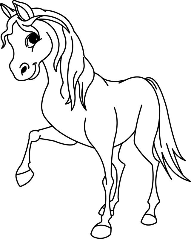 Coloriage beau petit cheval dessin gratuit imprimer - Chevaux dessins ...