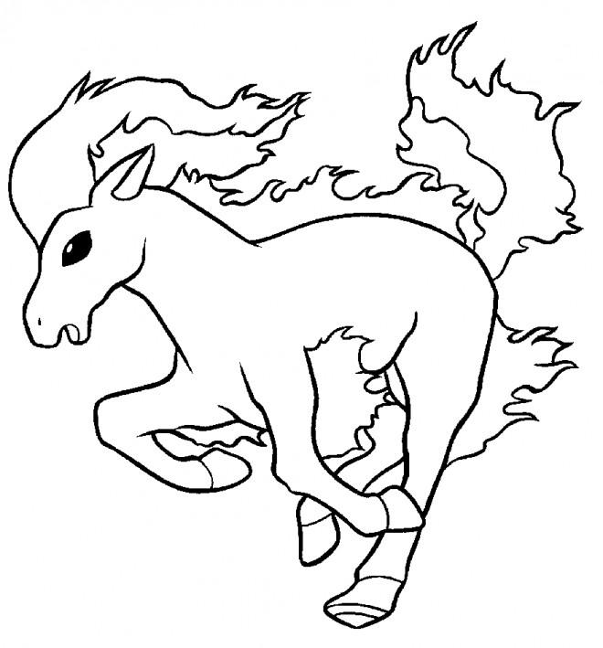 Coloriage et dessins gratuits Cheval 109 à imprimer
