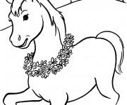 Coloriage dessin  Cheval 19
