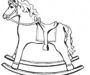 Coloriage Cheval à bascule