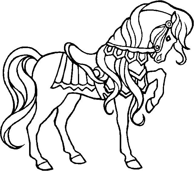 Coloriage et dessins gratuits Cheval adorable à imprimer