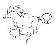 Coloriage et dessins gratuit Cheval au galop à imprimer