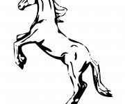 Coloriage et dessins gratuit Cheval cabré à imprimer