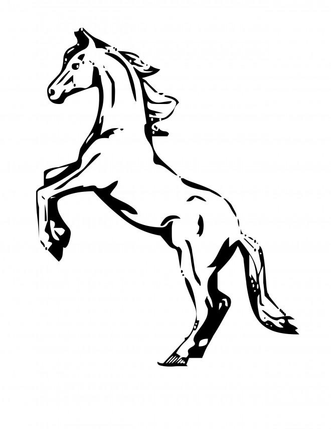 Coloriage et dessins gratuits Cheval cabré à imprimer