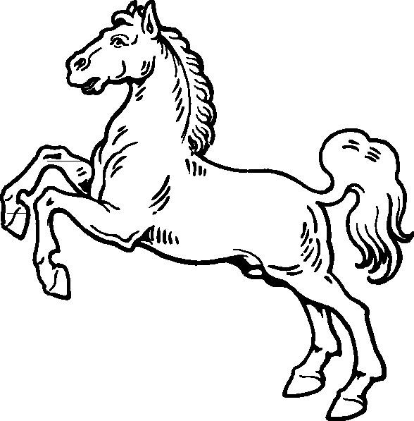 Coloriage et dessins gratuits Cheval cabré sur ordinateur à imprimer