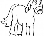 Coloriage Cheval coloriage
