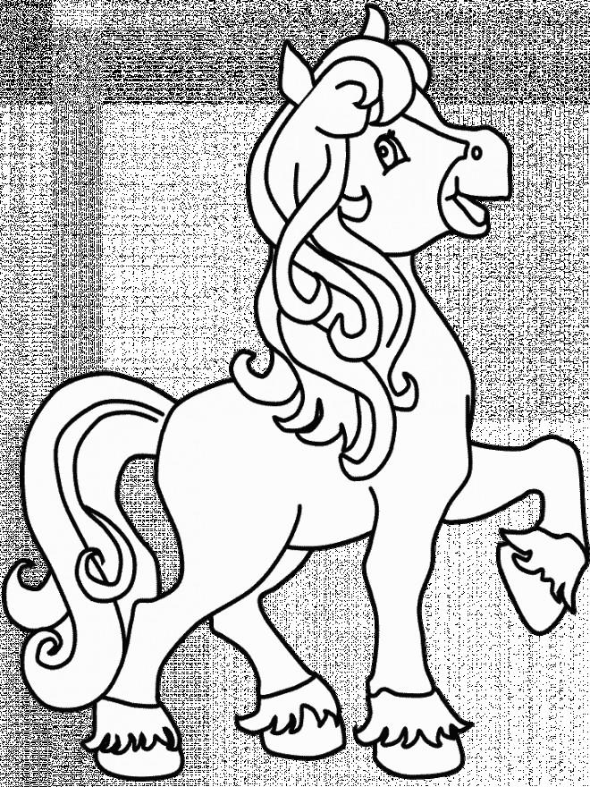 Coloriage et dessins gratuits Cheval dessin facile à imprimer