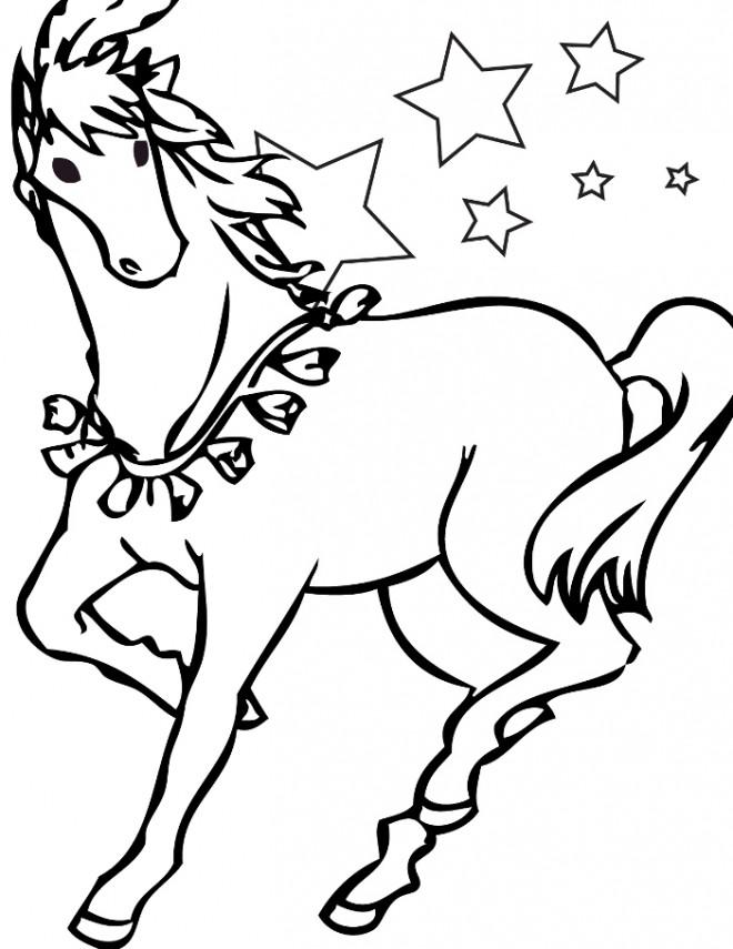 Coloriage et dessins gratuits Cheval dessin pour enfant à imprimer