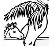 Coloriage cheval gratuit imprimer liste 100 120 - Coloriage cheval et poulain ...