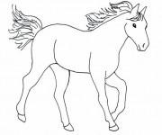 Coloriage et dessins gratuit Cheval facile à imprimer