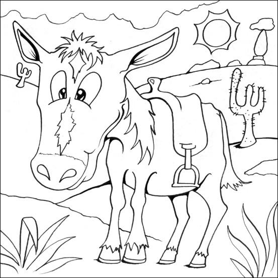 Coloriage Cheval Indien.Coloriage Cheval Indien Dans Le Desert Dessin Gratuit A Imprimer