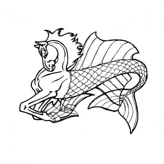 Coloriage et dessins gratuits Cheval magique à imprimer