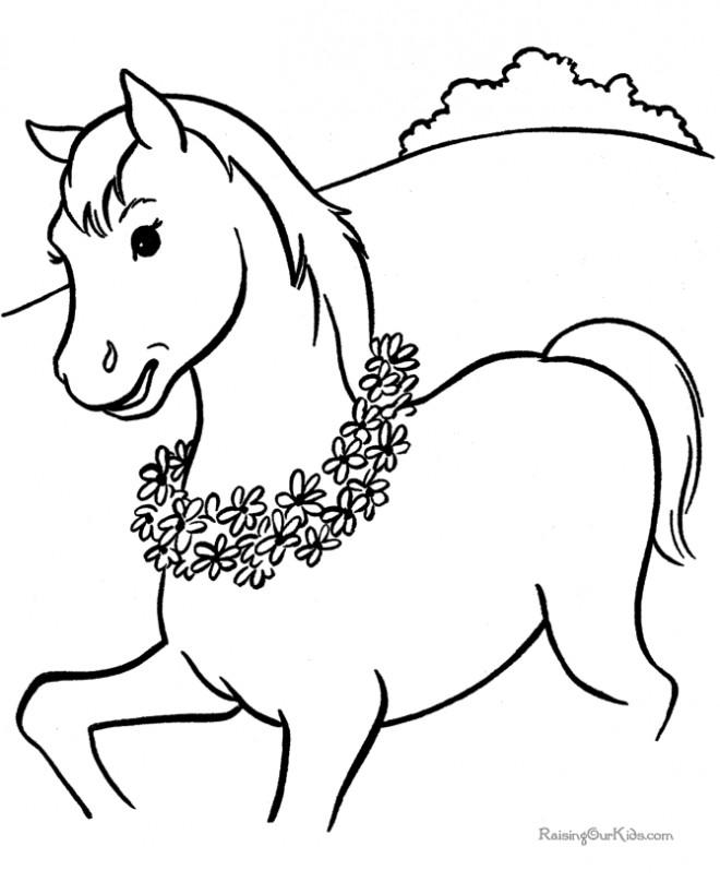 Coloriage et dessins gratuits Cheval magnifique à imprimer