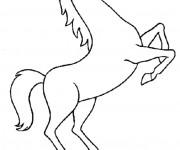 Coloriage et dessins gratuit Cheval qui saute à imprimer