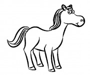 Coloriage Cheval souriant