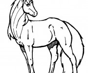 Coloriage Cheval Unicorne imaginaire