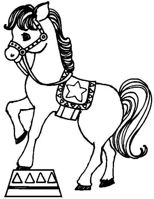 Coloriage et dessins gratuits Cheval vedette du cirque à imprimer