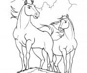 Coloriage Chevaux dessin animé