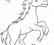 Coloriage Le cheval et l'escargot